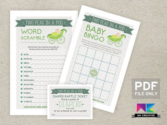 baby shower games diaper raffle showers awesome etsy twin baby showers