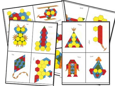 For early finishers-pattern block challenges