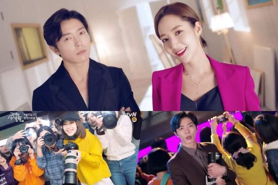 """Watch: Kim Jae Wook And Park Min Young Are Successful Professionals By Day And Idol Fans By Night In Teasers For """"Her Private Life"""""""