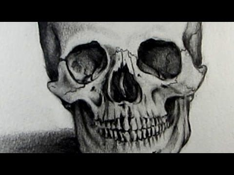 ▶ How To Draw A Skull - YouTube