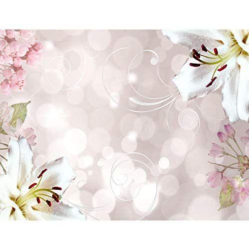 Fototapeten Blumen Lilien Weiss 352 X 250 Cm Vlies Wand Tapete