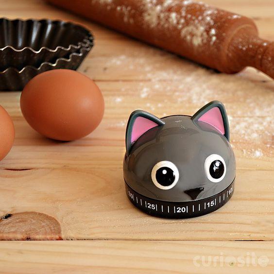 Un temporizador de cocina muy felino