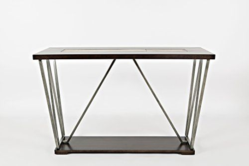 Jofran 1680 4 Leonardo Sofa Media Table 47 With Images Metal Sofa Wood And Metal Glass Console Table