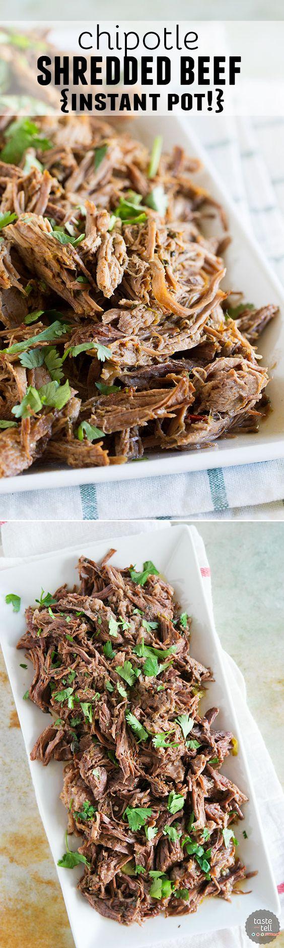 Chipotle Shredded Beef (Insta Pot)   Recipe   Cas, The o ...
