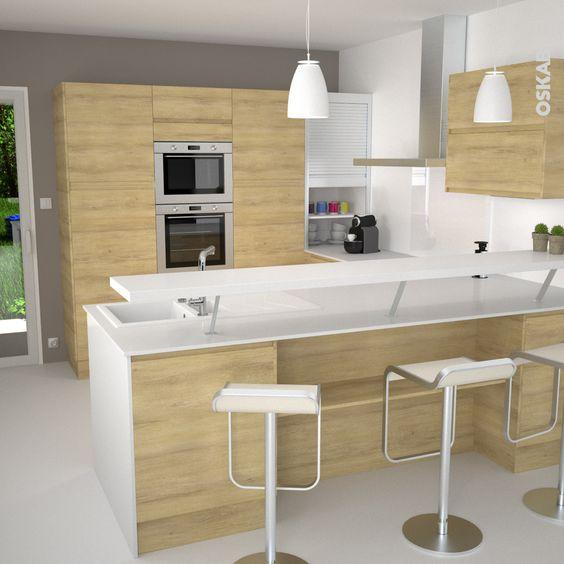 Cuisine snacks and design on pinterest for Modele cuisine blanche