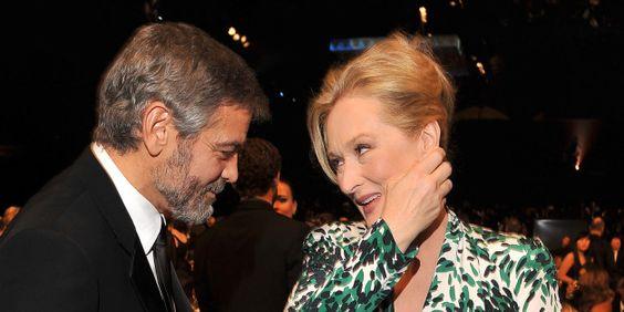 George Clooney schützt Meryl Streep - und stellt Trump eine Frage, die allen auf der Zunge liegt