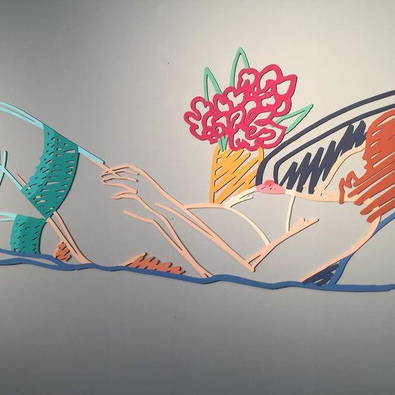 #pop #popart #laser #lasercut #art #tomwesselmann #gmurzynska #sexylady #nude by lucas_bscher