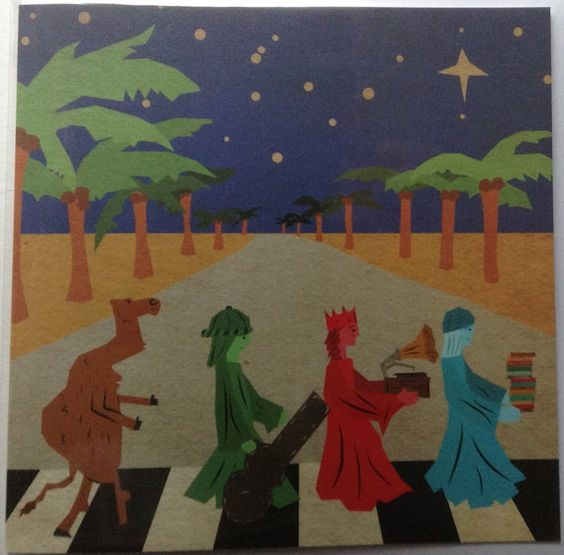 The Beatles Abbey Road Square Christmas by AStrangeIllustration