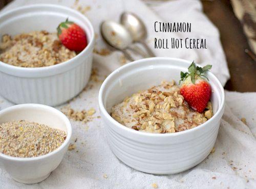 Cinnamon Roll Hot Cereal