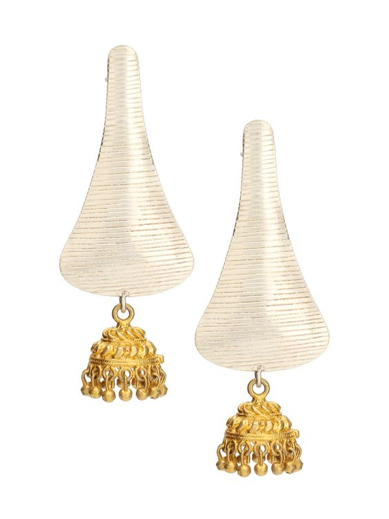 Sterling Silver Jhumki Style Hanging Earrings #Ekatrra #Gold #Earring #Stone #Wedding #Accessories #Jewellery #Follow #Womenshopping #Onlineshopping #Traditional #Ethnicstyle #Love #Gift Shop now: http://bit.ly/1UxFa61
