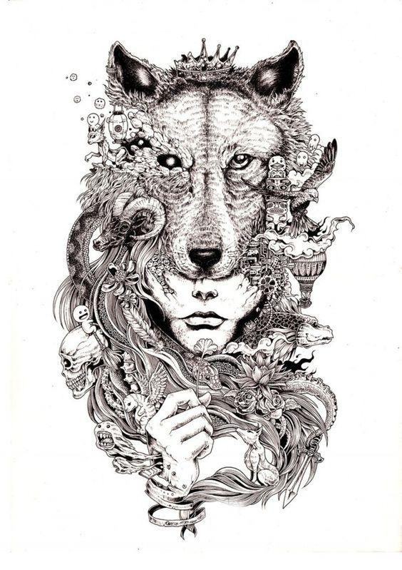 http://www.fubiz.net/2014/11/23/hyperdetailed-drawings-by-kerby-rosanes/