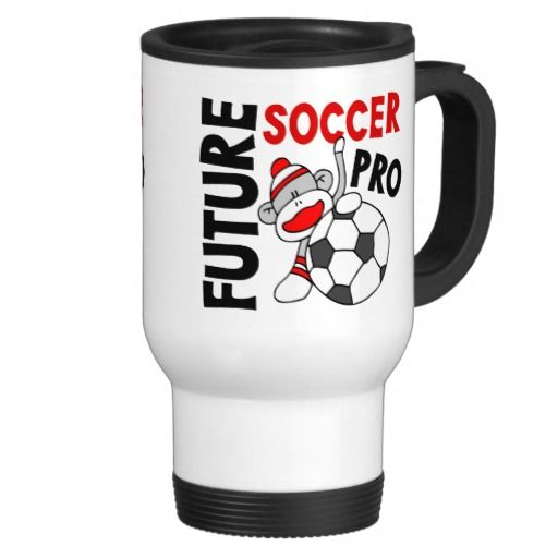 Future Soccer Pro Sock Monkey Coffee Mugs