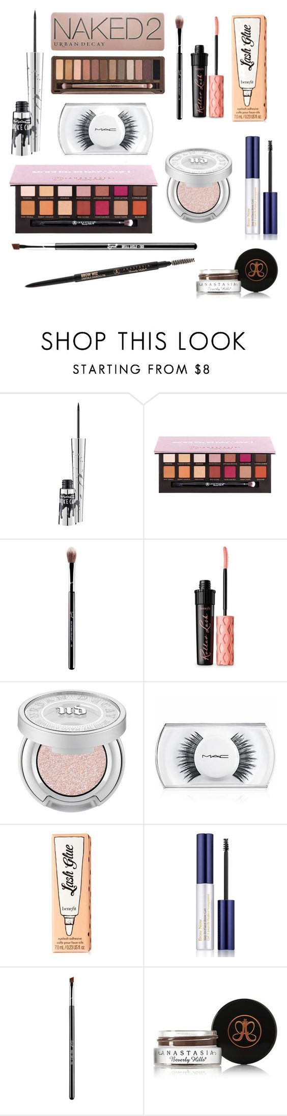 """Second Steps"" by mygirlnirv124 on Polyvore featuring MAC Cosmetics, Urban Decay, Anastasia Beverly Hills, Benefit and Estée Lauder"