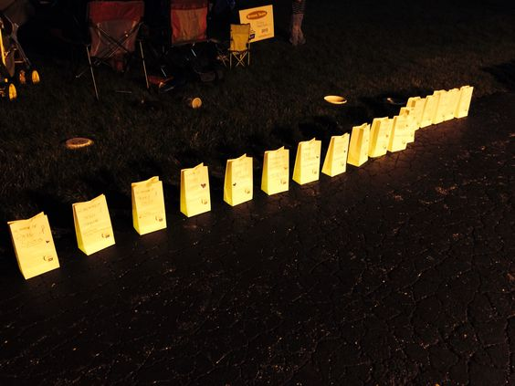 Relay For Life FP Luminaria ceremony  Love this part of the night!