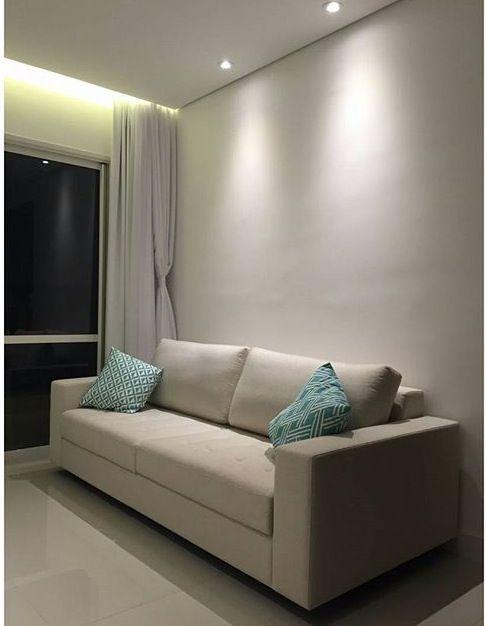 Iluminação ✨✨,Gosto muito do espaço entre a parede e o teto
