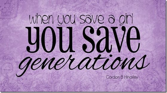 Image result for when you save a girl, you save generations hinckley