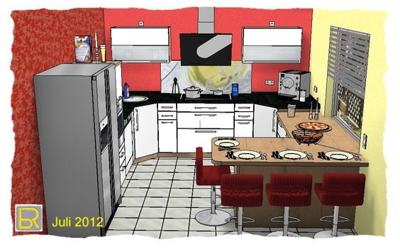 Die Referenzen von Baltes \ Riemenschneider - Küchen Baltes - küche mit side by side kühlschrank