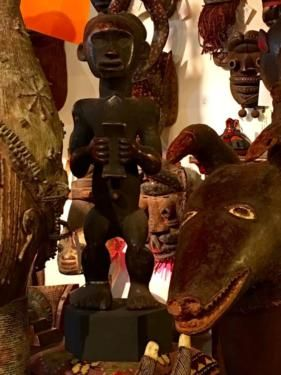 """African Figure On Base On Sale   Congo  31"""" Tall x 10"""" Wide x 9"""" Deep   Was $795 Sale Price $318  Tribal Art and Accessories  Dealer #135  @ Lost. . .Antiques 1201 N. Riverfront Blvd. Da"""