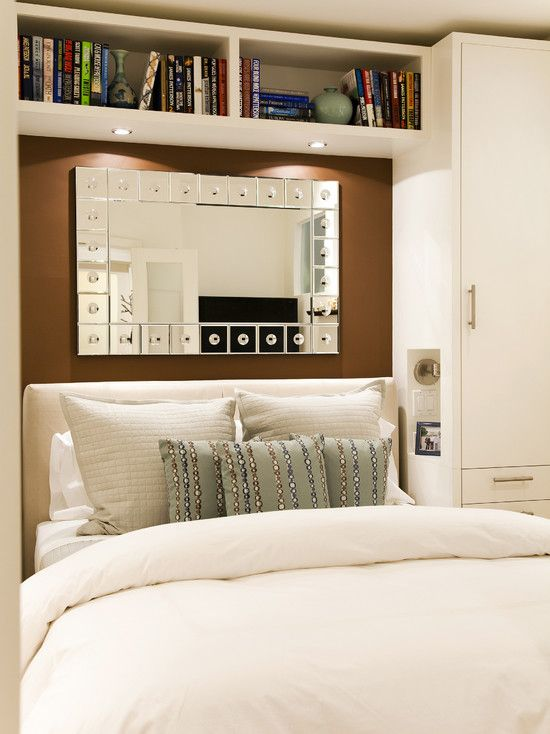 Wardrobe over bed design pictures remodel decor and for Built in bedroom storage ideas