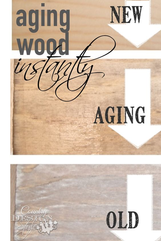 how to make wood look old with vinegar and tea