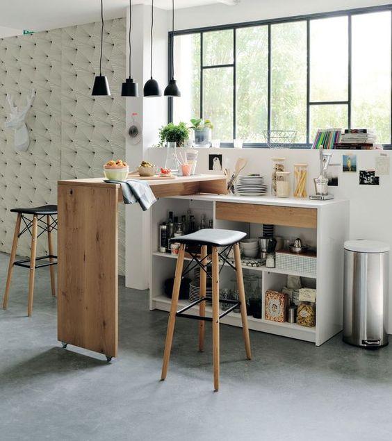 Rangements pratiques pour la cuisine bar ps et tables - Table de cuisine d appoint ...