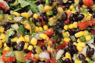 fresh and healthy black bean salsa