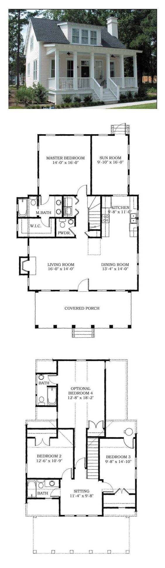 Cottage floor plans via Cool House Plans