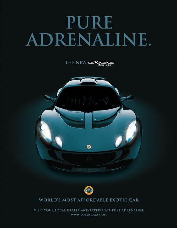 Lotus Exige S Pure Adrenaline Automotive Advertisement