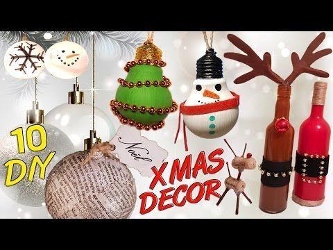 decoracion navidad adornos para el arbol reciclados con bombillas fundidas navideas youtube