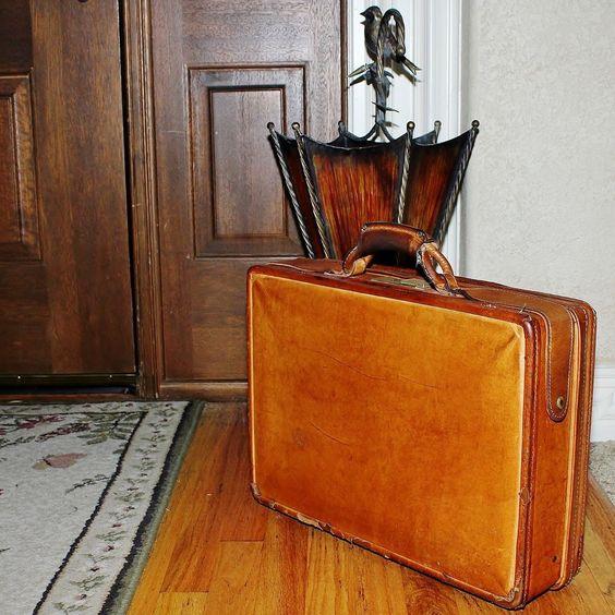 """VINTAGE Hartmann Belted Leather 5""""W Briefcase Comb. Lock, Madmen Midcentury #Hartmann #Briefcase #luxury #vintage"""