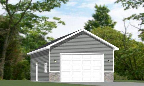 34x42 1 Rv Garage 34x42g2c 1 400 Sq Ft Excellent Floor Plans Garage Plans Bungalow House Design House Plans