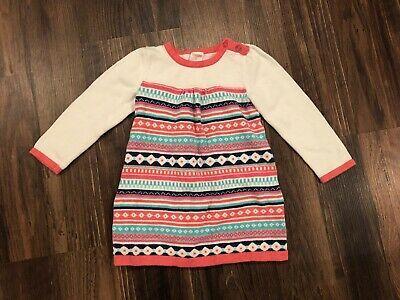 3T Baby Girl Gymboree Sweater Dress Sz MULTI COLORS New!