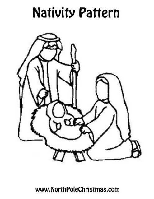 Exhilarating image pertaining to printable nativity scene patterns