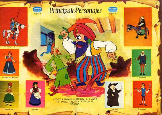 En 1979, TVE comenzó la emisión de Don Quijote de la Mancha, una serie de dibujos animados de producción íntegramente española, con la que se pretendía acercar al público más joven la obra de Cervantes. Ese mismo año, la empresa Danone comenzó a regalar con la compra de sus yogures una colección de noventa y cuatro cromos, que reproducían fotogramas extraídos directamente de la serie de televisión, para incluir en un álbum de 15 pesetas de precio.
