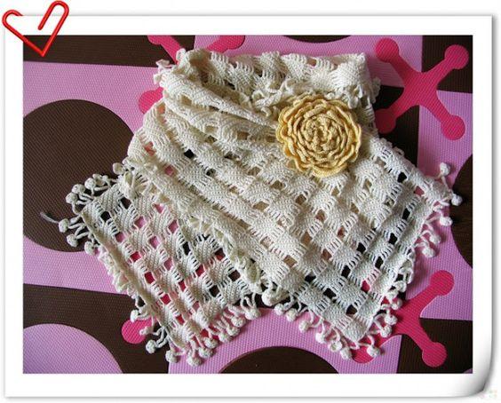 Meu Mundo Craft: Lenço em crochê