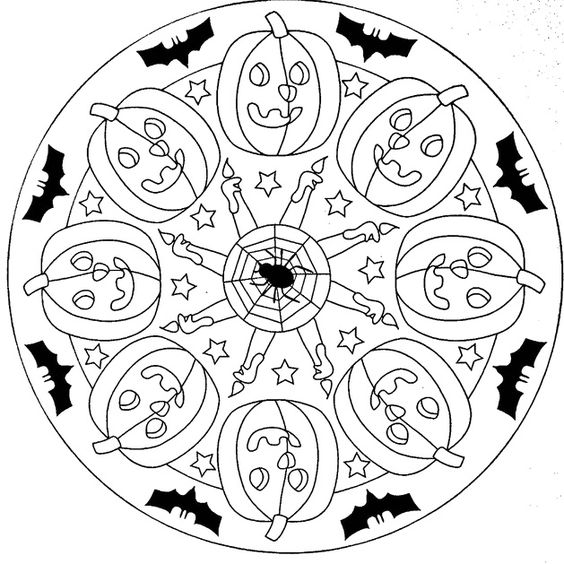 Mandala Halloween Coloring Pages Mandala Coloring Pages iKids