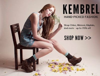 "Kembrel is a leading online store offering new fashion and accessories every week from major brands (like Chloe, Nicole Miller, and Nars) and from independent designers. Kembrel is offering the ""Inspirations & Celebrations"" followers an EXCLUSIVE 40% OFF DISCOUNT ON ALL PURCHASES. Just use Coupon Code KEMINSPIRE at check-out. This exclusive offer is valid through 10/31/12."