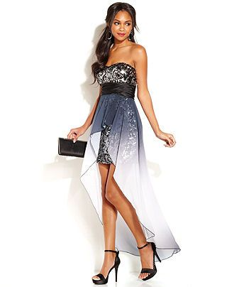 Speechless Juniors' Sequin High-Low Dress - Juniors Prom Dresses ...