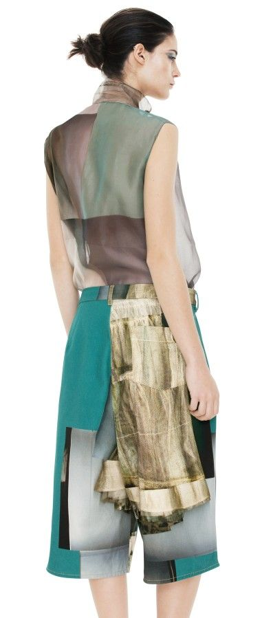 Ten Short Print Emerald green by @Acne Hub Studios