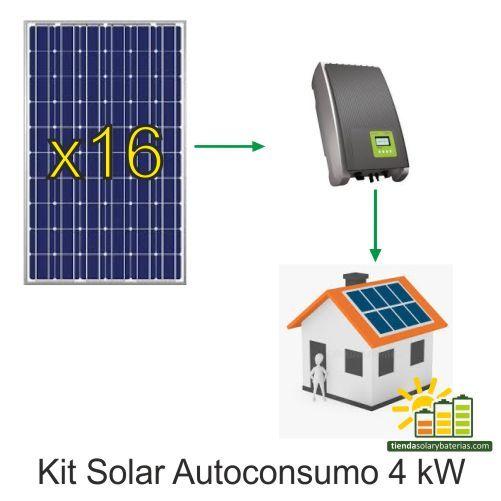 Kit Solar Autoconsumo 4kw Con Inversor Kostal Kit Solar Kit Placas Solares