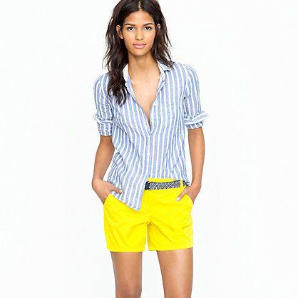 Yellow Shorts: Jcrew Chino, Yellow Shorts, Colored Shorts, Summer Style, Bright Shorts, Chino Shorts, Bright Yellow, Bright Colors