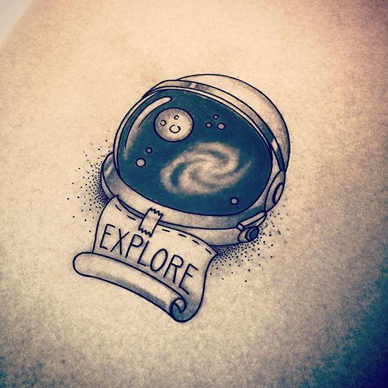 astronaut helmet tattoo! #ink #tattoo #astronomy #astronaut