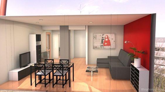 Ideas Para Decorar Sala Y Comedor ~ decoracion de sala comedor y cocina en espacios pequeños  Buscar con