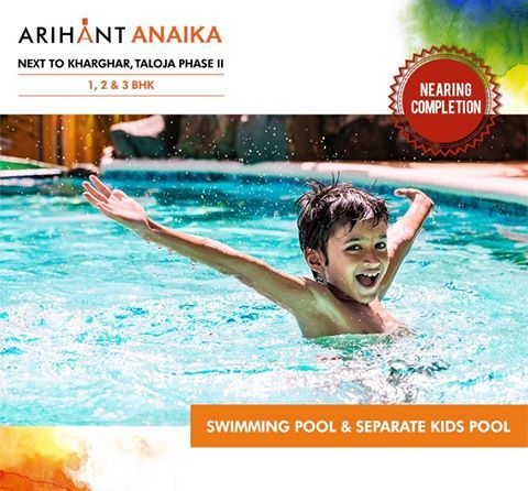 Arihant Anaika Affordable Housing In Half The Price Of Kharghar Next To Kharghar Taloja Phase Ii 1 2 3 Bhk Riverside Count Kid Pool Swimming Pools Pool