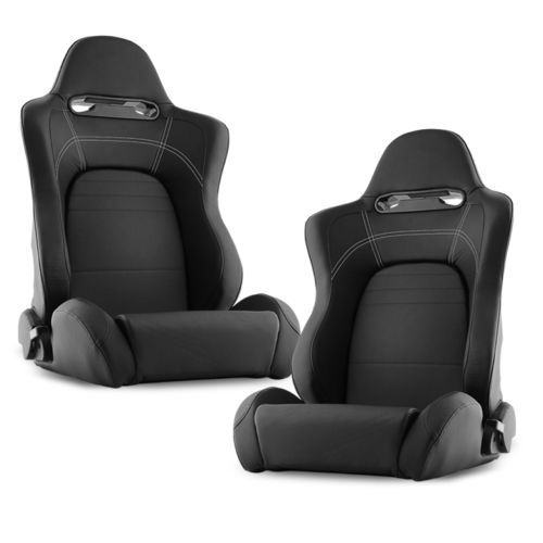 racing seats recaro black leather reclinable racing seat. Black Bedroom Furniture Sets. Home Design Ideas