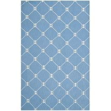 Blue/Ivory Geometric Area Rug