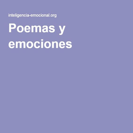 Poemas y emociones