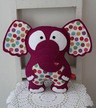 Elefantinho de feltro.