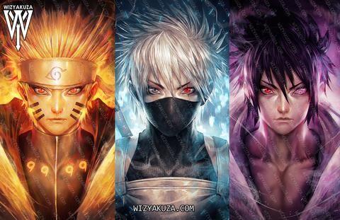 3d Triple Transition Variation Of Chakra Lenticular Print Naruto Uzumaki Art Naruto Drawings Naruto Art