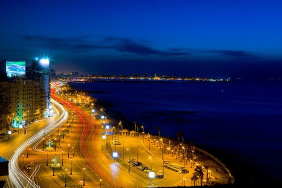 Alexandria coastline, Egypt